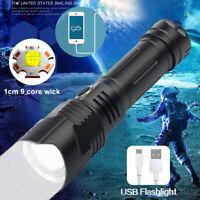 Super hell 120000lm Taschenlampe XHP100 LED taktisches Wiederaufladbare USB DE