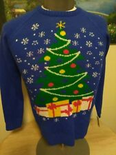 Ugly Christmas Sweater LOL Vintage Christmas Tree Size S Small NWT