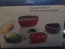 Trudeau Tutti Frutti 11 Piece Chocolate Fondue Set New In Box