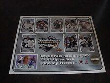 1992-93 Upper Deck Hockey---Gretzky Heroes Sheet---8x11---Serial #29166