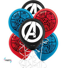 """AVENGERS PARTY SUPPLIES 6 X 12"""" ( 30cm) LATEX HELIUM QUALITY BALLOONS"""