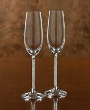 Champagne Flutes Crystals From Swarovski Pair in Presentation Box Awesome Gift