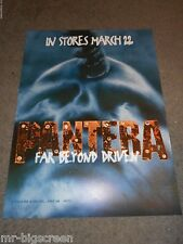 "Pantera - Far Beyond Driven - Original Promo Ss Poster - 1994 - 24"" X 32.5"""