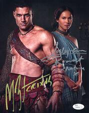 """(SSG) MANU BENNET & LESLEY-ANN BRANDT Signed 8X10 """"Spartacus"""" Photo - JSA COA"""