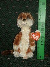"Ty Beanie Babies ~ Flower ~ the 7"" Meerkat (Uk Exclusive)~ Mwmt ~ Rare ~ Htf"