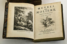 1734 | Oeuvres de MOLIERE | 4 vols | rare important edition | plates by BOUCHER