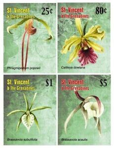 St. Vincent 2010 - SC# 3701-4 Caribbean Orchid Flowers - Set of 4 Stamps - MNH