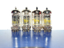 4 x 12AX7A Raytheon-Baldwin Tubes*Long Black Plates* Matched/Balanced Quad*1959*