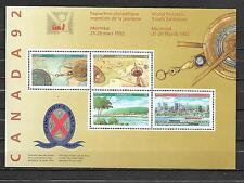 pk34274:Stamps-Canada #1407a Canada 92 Souvenir Sheet - MNH