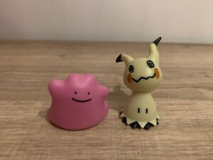 Pokémon Battle Figure Double Pack Mimikyu and Ditto Figures In Ex Cond