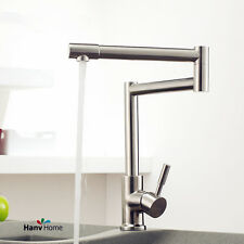 Lead Free Stainless Single Handle Kitchen Sink Faucet Folding Rotation Mixer Tap