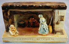 Vtg Sebastian Miniatures Figure 1952 Colonial Kitchen