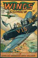 WINGS  COMICS  60  FN/6.0  - Cool war cover from 1945!
