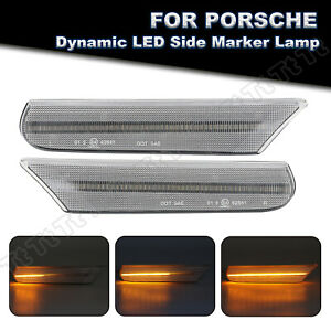 Sequential LED Side Marker Light For 1998-04 Porsche 911 Carrera 996 Boxster 986