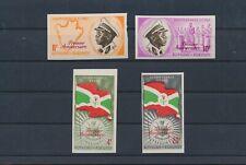 LL97257 Burundi 1962 imperf independence fine lot MNH