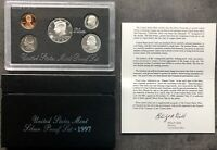 USA 1997 SILVER Proof Set San Francisco Original Box PP polierte Platte 1c-50c