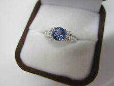 GORGEOUS ESTATE 14 KT GOLD 1.71 CTW TANZANITE AND DIAMOND RING !!!!!!!