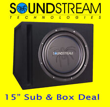 "Soundstream 15"" Inch Car Audio Subwoofer High Power Sub Woofer Ported Box DEAL!!"