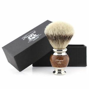 Face Lathering Shaving Brush Silver Tip Hair Barber Style Hair Remover Shaver