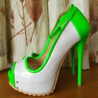 FASHION Women Heels Peep Toe Pumps Ankle Strap Party Shoes Plus sz Stiletto High