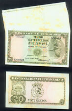 WHOLESALE GROUP of 1000 TIMOR 20 ESCUDOS NOTES of 1967 PICK# 26a STINKY TOE TYPE