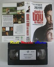film VHS  ABOUT A BOY UN RAGAZZO Hugh Grant 2003 Universal    (F4**)  no dvd