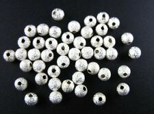 100pcs Silver Plated Stardust Spacer Beads 8mm W13SP
