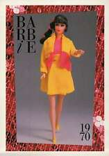 """Barbie Collectible Fashion Trading Card """" Rare Pair """" Jacket Skirt Yellow 1970"""