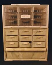 Vintage Akro Mils Stacking Parts Cabinet 19 Drawers Storage Plastic Akron Ohio