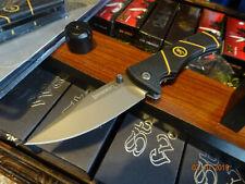 "BROWNING 4"" FOLDING LINERLOCK KNIFE BLACK ORANGE 7Cr17Mov  BLADE TITANIUM COAT"