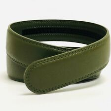 1 3/8 inch 3.5 cm Belt Green Strap for Automatic Ratchet Buckles Belt STRAP ONLY