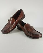COLE HAAN COUNTRY BROWN LEATHER LOAFERS W/BUCKLE SZ 10D MENS US