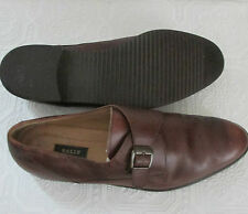 EUC Men's Bally Wales Brown Leather Monk Strap Casual Loafers Dress Shoes 15B