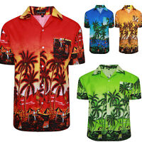 MENS HAWAIIAN SHIRT STAG BEACH HAWAII ALOHA PARTY SUMMER HOLIDAY BEACH FANCY NEW