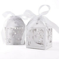 10x Mr Mrs Married Wedding Favor Box Gift Boxes Candy Paper Party ME