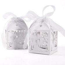 10x Mr Mrs Married Wedding Favor Gift Cajas de regalo Candy Paper Party VP