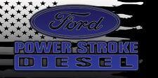 POWER STROKE, FORD, TURBO, DIESEL, Truck Garage Shop Quality Vinyl Banner