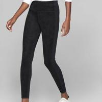 Athleta Sueded Strut Tight Pant Leggings Yoga Womens Black Size XS 870861