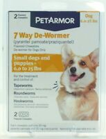 PetArmor 7 Way Dog De-Wormer,  6 to 25 lbs Exp. - 7 Pack