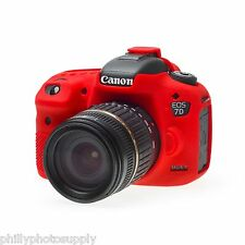 easyCover Armor Protective Skin for Canon 7D Mark II Red ->Free US Shipping