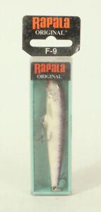 Vintage Fishing Lure Rapala F-9 Original Floating Purple Descent 4 In.      B1F4