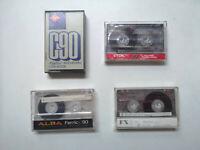 Lot of 4 Vintage C90 & C60 Cassette Tapes Agfa, TDK, Alba & Sony (4C3)