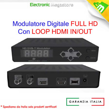 MODULATORE DIGITALE TERRESTRE SKY RF TV VIDEOSORVEGLIANZA MPEG2 FULL HD