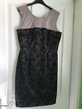 Stunning Black And Dusted Pink Party Dress Orsay Size 10