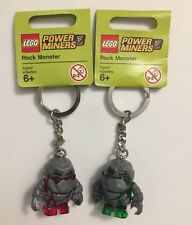 Lego Power Miners Rock Monster Red & Green Keychains NEW