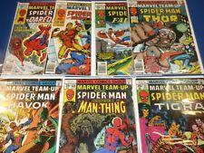 Marvel Team Up #67,68,69,70,71,72,73 Bronze age lot of 7 Fine+ to VF- Byrne