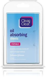 CLEAN & CLEAR Oil Absorbing Sheets - 50 Sheet Per Pack