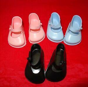 Cinderella Doll Strap Shoes. Size 3. Blue, Pink & Black