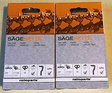 2 x Kette Sägekette für Stihl MS 017 170 171 180 181 021 210 211 30 3/8 1,1 44TG