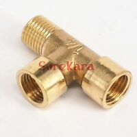 """LOT 2 Tee 3 Way Brass Pipe fitting Connector 3/8"""" BSP Male x Male x Female"""